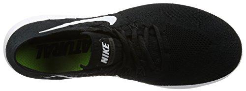 Nike Free Run Flyknit 2017, Scarpe Running Uomo Nero (Schwarz/weiß)