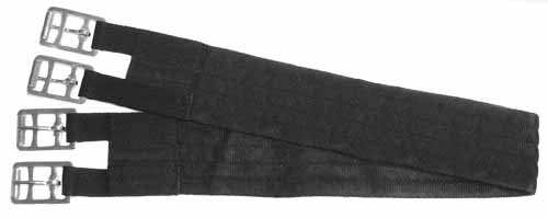 Derby Originals Gurt aus weichem Nylon für englische Sättel, schwarz, 32