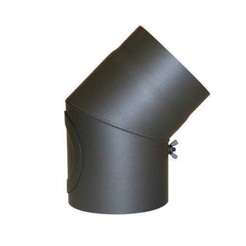 Kamino - Flam – Codo con válvula para chimenea de leña, Codo...