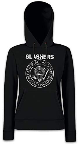 Urban Backwoods Slashers Logo Damen Kapuzenpullover Hoodie XS - 2XL (Texas Chainsaw Massacre Hoodie)