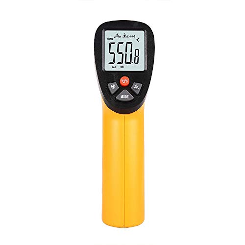 Qtavyep Termómetro Digital por Infrarrojos Arma termómetro de Alta precisión Objeto Industrial Termómetro...