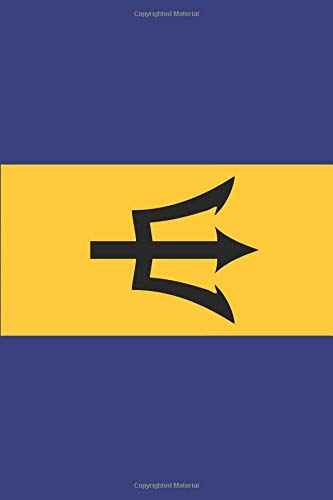 Barbados flag journal: Blank lined diary