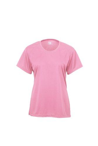 Badger Sportswear Damen b-Dry Short Sleeve Performance Tee XS Rose - Double Dry Short Sleeve Tee