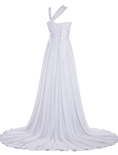 Dresstells, Robe de cérémonie Robe de soirée Robe de gala une épaule traîne moyenne Rose