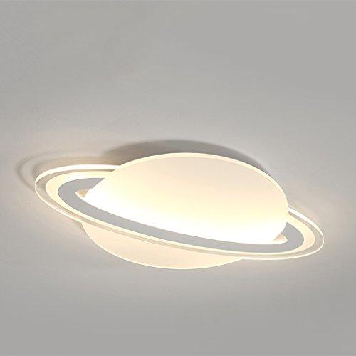 GAOLILI Chambre d'enfants Éclairage Simple Moderne Chambre Lampe Garçon Fille Étude Ultra-mince Planète de Dessin Animé Led Plafond Lampe Creative Minimaliste Lampes Mince ( Couleur : Lumière chaude , taille : 30*20cm 16w )