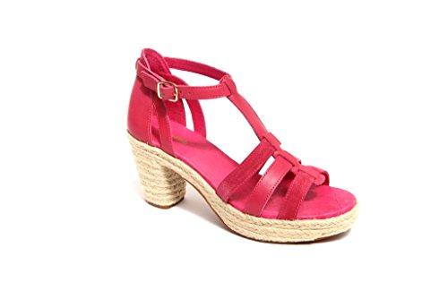 flip*flop originals Damen Sandaletten Sandalen Pumps Schuhe Mod. Coconut (36 EU, Beere (Goji/Nature))