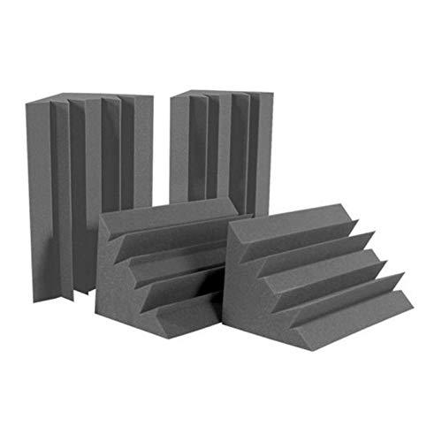 TOOGOO Esponja Negra de 12 Piezas Para La Pared de La Esquina, Esponja de Estudio Que Absorbe El Sonido