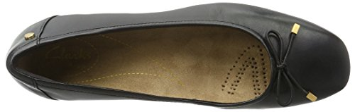 Clarks Candra Light, Ballerine Donna Nero (Black Leather)