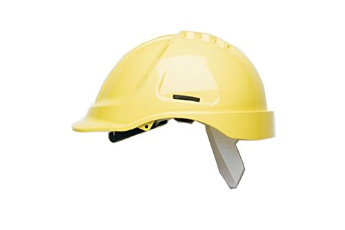 Scott Safety HC600/Y Helmet Unvented with Sweatband, Yellow