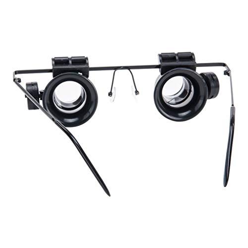 Multifunktionale tragbare LED-Licht Lupe binokulare Mikroskop Brille 180 ° Einstellbare optische Linse Lupe