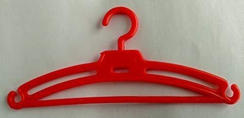 Folk Artesanía Lote 50 Perchas para Nancy Famosa en Color Rojo, Azul, Amarillo y Verde. Válido para Sintra, Noa, Barbie