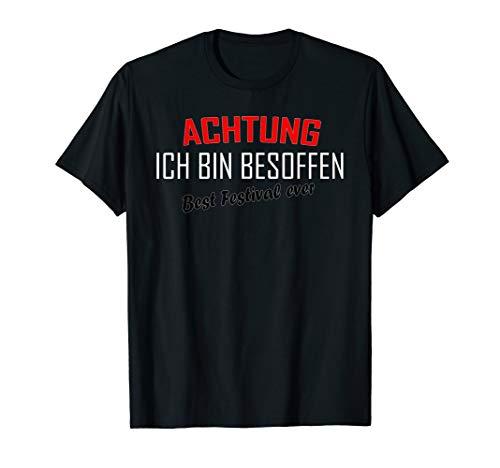 ACHTUNG Besoffen Party Ferien Herren Frauen Kinder Geschenk - Musik Mag Ich T-shirt