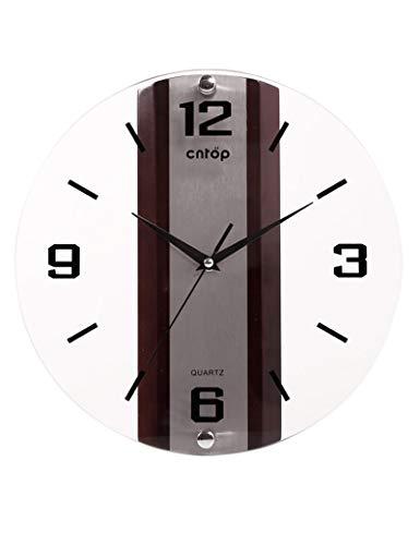 IG Glocke-Wanduhr Metall Genaue runde Glas Europäischen Minimalistischen Kreative Schlafzimmer Büro -1 X Aa Batterie (Nicht Enthalten),A