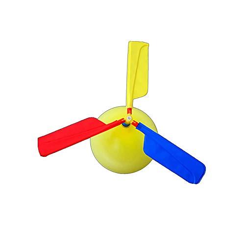 Avión Helicóptero Globo niños globo helicóptero Desarrollado juguete que vuela por un regalo de los niños Día partido del regalo de Pascua (color al azar) 5 PCS
