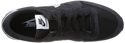 Nike Internationalist 631754003, Baskets Mode Homme Multicolore - Mehrfarbig (BLACK/METALLIC SILVER-DARK ASH)