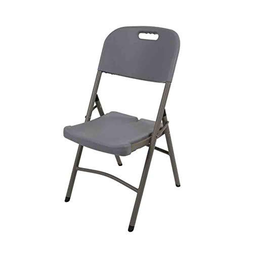 Möbelsets-LX Klappstuhl, stapelbarer Schreibtischstuhl, Esszimmerstuhl, Freizeitstuhl, Training, Computerkonferenzstuhl, tragbarer Angelstuhl für den Außenbereich (Farbe : Schwarz)