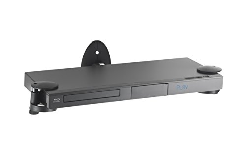 VonHaus – Wandregal –Wandhalterung für DVD Player / PS4 / Kabelboxen / Spielkonsolen / TV Zubehör -  Schwarz (Bluray-player Wandhalterung)