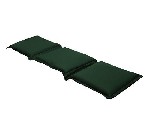 Dehner Flexbankpolster uni 3-Sitzer, ca. 140/160 x 45 x 7 cm, Polyester, dunkelgrün