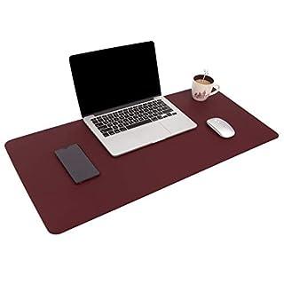 Multifunktionales Office Mauspad, 80 * 40 cm YSAGi Wasserdichte Schreibtischunterlage aus PU-Leder, Ultradünnes Mousepad zweiseitig nutzbar, ideal für Büro und Zuhause (dunkelviolett, 80 * 40 cm)