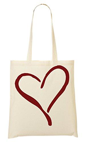 Juno Tote (Minimalistic Red Heart Graphic Tragetasche Einkaufstasche)