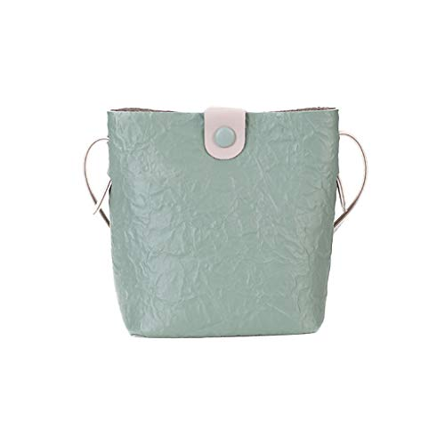 XZDCDJ UmhängeTaschen Damen Damen Mode Allzweck Small Square Bag Single Schulter Messenger Bags Grün