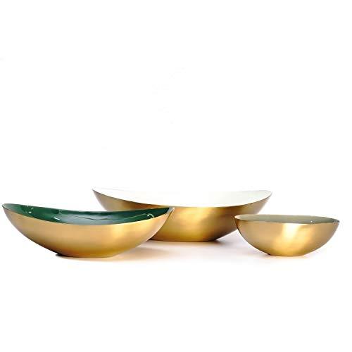 üssel 3Er Set Gold Deko Vase Grün Weiß Mint ()