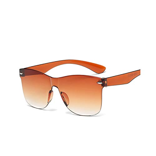 Sportbrillen, Angeln Golfbrille,NEW Transparent Sunglasses Women Vintage Colorful Retro Fashion Rimless Sun Glasses Women's Brand Eyewear Oculos De Sol Orange