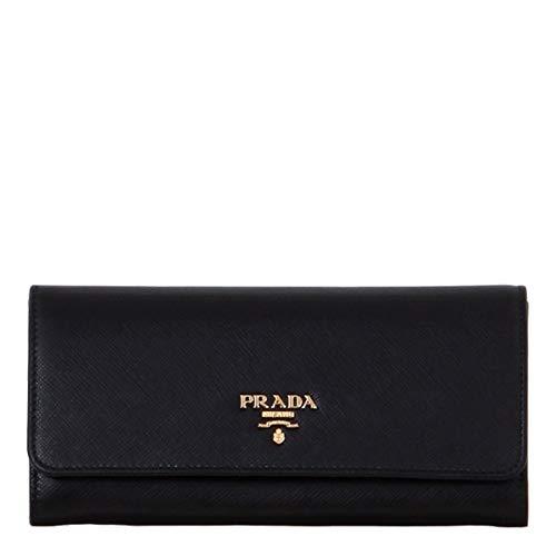 Prada portafoglio donna 1mh132qwaf0002 pelle nero