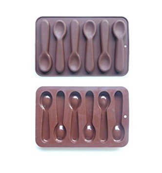 Moule à chocolat ou bonbons en silicone en forme de cuillère pour décoration de gâteau cupcake