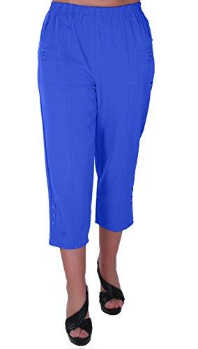 en Capri Crop Hose Flexi Stretch Plus Größen Frauen 3/4 Hosen ()