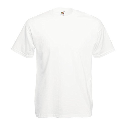 Fruit of the Loom - Classic T-Shirt 'Value Weight' 4X-Large,White (T-shirt 4x)