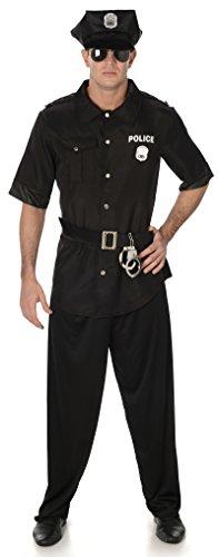 Amerikanisch Polizist NYPD Uniform Erwachsene Herren Kostüm Neu (XL Biz su 48