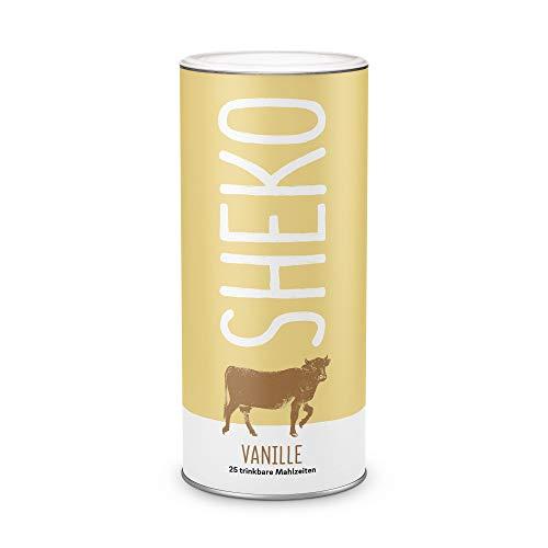 Sheko Diät Shake Vanille Made in Germany 25er BCM Spar-Paket Premium Eiweißpulver, natürliche Zutaten Protein-Shake als Mahlzeitersatz abnehm-shake Protein-shake für Eiweiß Shaker