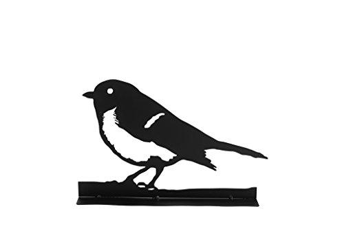 TS Deko-Figur, Gardendeco Vogel Iron, pulverbeschichtet, schwarz, 41 x 8 x 26 cm, 134380