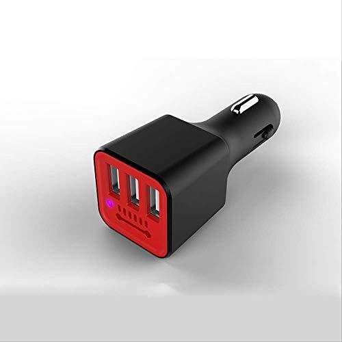 Auto multifunzionale di riempimento auto purificatore d'aria telefono cellulare veloce caricabatteria auto ossigeno bar intelligente moda sigaretta dispositivo luce Nero + rosso
