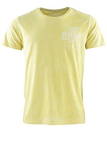 Replay Herren T-Shirt Shirt Gelb