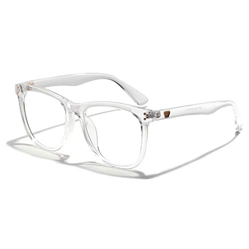 BAACHANG Blu-ray Black Frame literarische Brille Nerd Brille, klare Linse (Farbe : Clear)