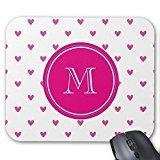 messicano rosa cuori con glitter Monogram mouse pad - Monogram Cuore