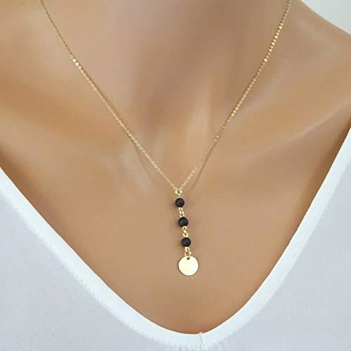 ZUXIANWANG Halskette Perle personalisiertes Cd Halskette Aromatherapie Halskette Brautjungfer Halskette