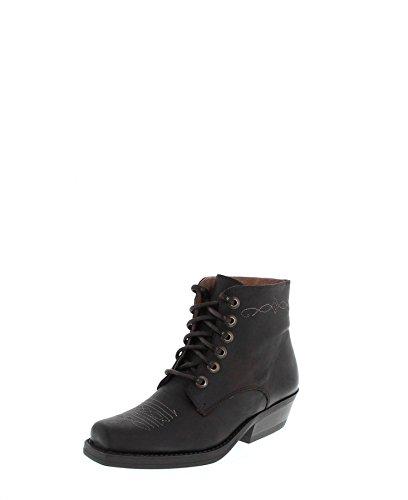 Fashion bU1010 western bottes-bottines femme schnürstiefelette (différents coloris) marron foncé