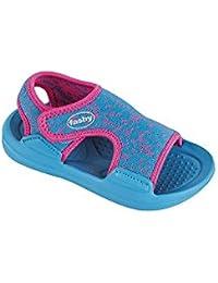 Fashy kleinkinder-sandale Chanclas para la piscina playa con cierre adhesivo en 2 Colores Disponibles - (Hecho en Alemania)