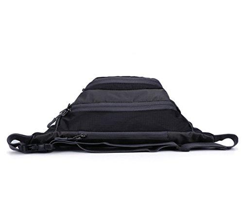 Wewod Mode Freizeit Taschen Wasserdichte Outdoor Sportarten (Rote) Schwarz