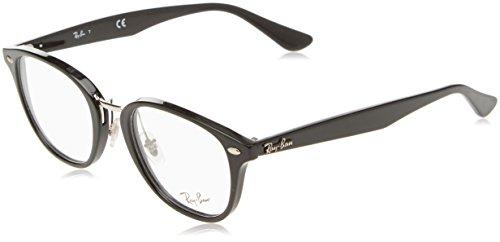 Ray-Ban Unisex-Erwachsene Brillengestell 0rx 5355 2000 50, Schwarz (Shiny Black)