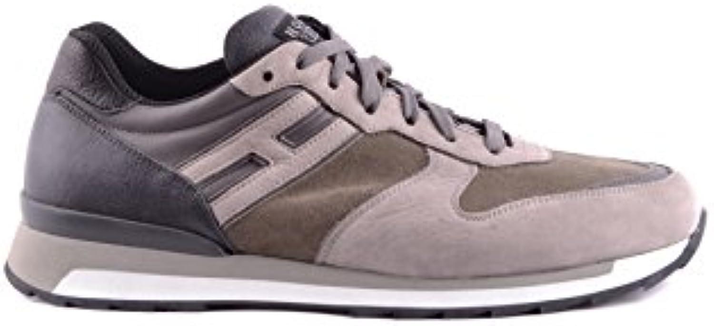Hogan Rebel Herren MCBI148433O Beige/Grau Wildleder Sneakers