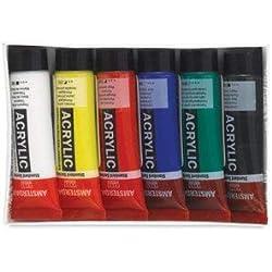 Amsterdam todos los juego de tubos de 6 x 20 ml estándar de monitores de pinceles para pintura acrílica