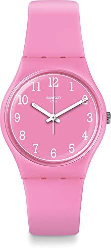 Swatch Damen Analog Quarz Uhr mit Silikon Armband GP156