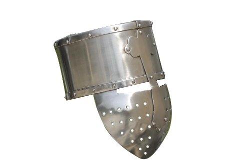 Kreuzritter Topfhelm / Größe XL / Mittelalter Helm / Get Dressed for Battle -