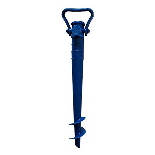 Drehschirmständer, Strandplastikspiralschirme Patio-Garten-Boden, justierbarer Regenschirm-Halter-Patio-Stand(Blue) - Patio-regenschirm-halter