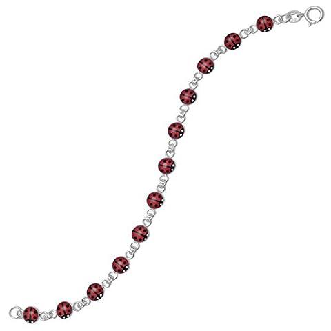 5.5 pouces Rouge et Noir Bracelet Coccinelle