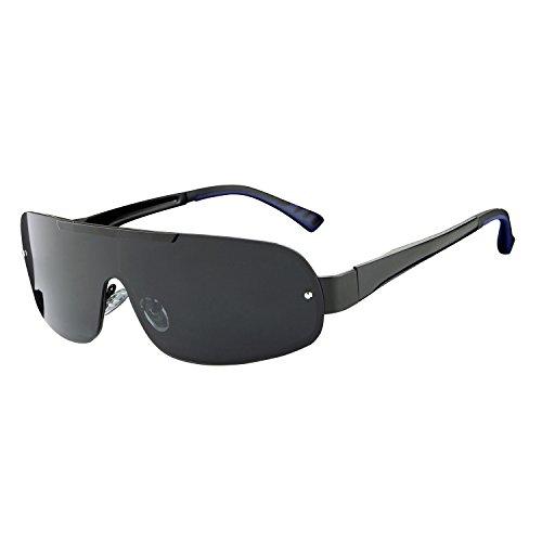 HDCRAFTER cool hommes lunettes de soleil polarisées en plein air Noir